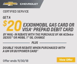 November Oil Change Rebate